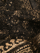 Load image into Gallery viewer, Natural Dye Block Print Silk Sari