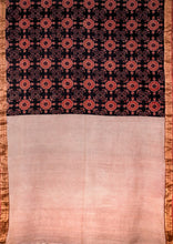 Load image into Gallery viewer, Natural Dye Block Print Cotton Sari - Creative Bee