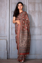 Load image into Gallery viewer, Natural Dye Block Print Silk Sari - Creative Bee