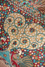 Load image into Gallery viewer, Natural Dye Hand-Painted Kalamkari Cotton Sari - Creative Bee
