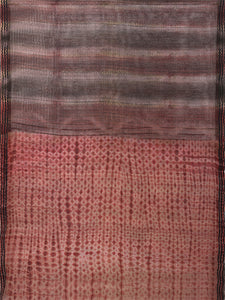 Natural Dye Shibori Silk Sari