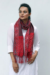 Ikat Silk Stole - Creative Bee