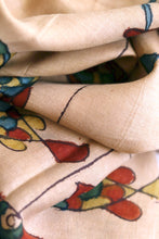 Load image into Gallery viewer, Natural Dye Hand-Painted Kalamkari Silk Stole - Creative Bee