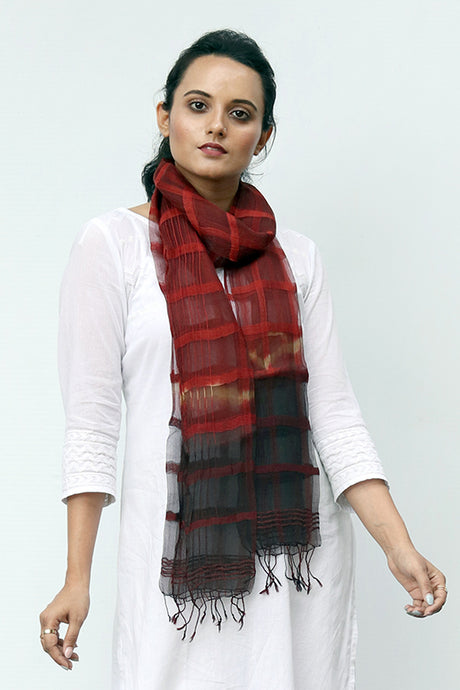 Natural Dye Shibori Filature Silk Stole - Creative Bee