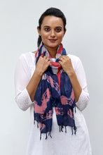 Load image into Gallery viewer, Natural Dye Shibori Cotton x Silk Stole - Creative Bee