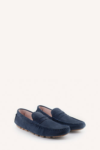 Travel Moccasin Navy