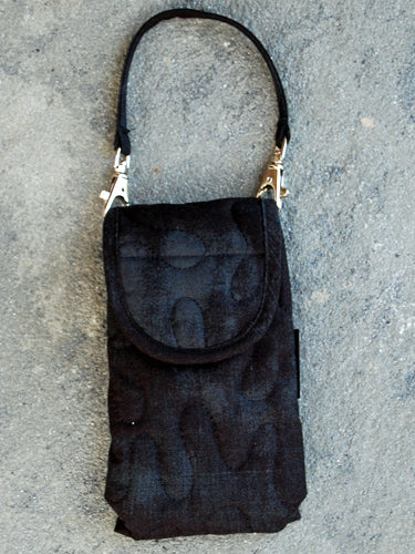 Phone Pouch | Black Grunge Fabric | Stitchpaint