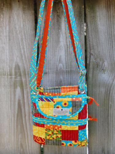 Crossbody Bag | Simple Marks Fabric | Stitchpaint