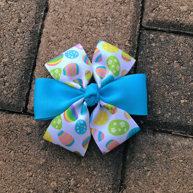 Spring Eggs Boutique Dog Bow | Stitchpet