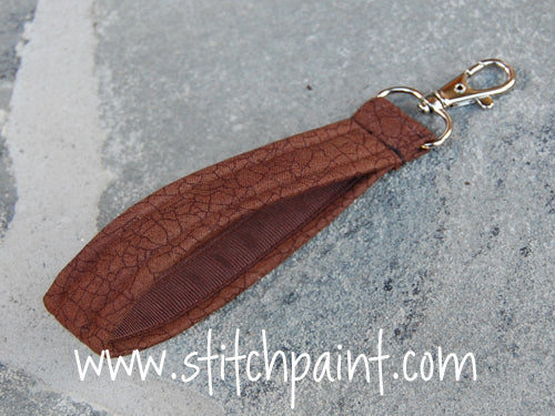 Wrist Strap | Brown Crackle
