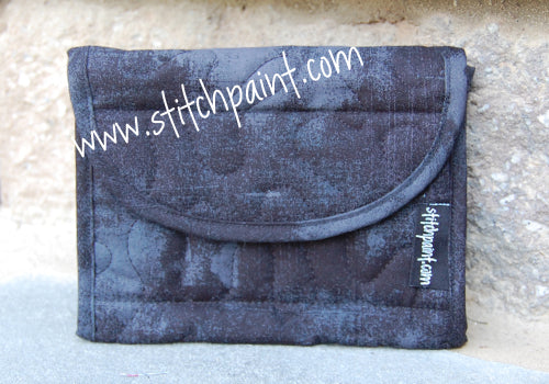 Mini Wallet | Black Grunge Fabric | Stitchpaint