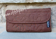 Clutch Wallet | Brown Crackle Fabric | Stitchpaint