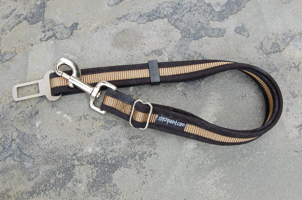 Tuxedo Dog Seatblelt Leash | Pet Safety Restraint for Car