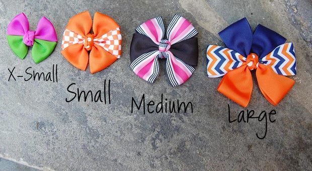 Boutique Dog Bows Size Chart | Stitchpet