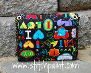 Mini Wallet Back | Cat Love Fabric | Stitchpaint