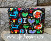 Mini Wallet | Cat Love Fabric | Stitchpaint