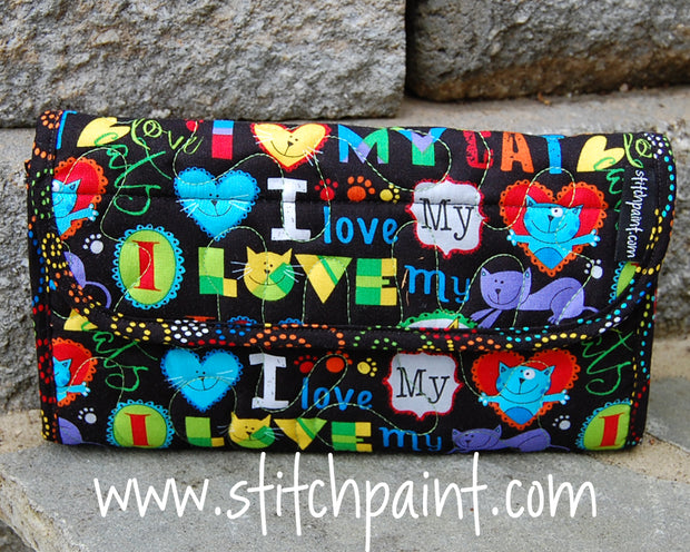 Clutch Wallet | Cat Love Fabric | Stitchpaint
