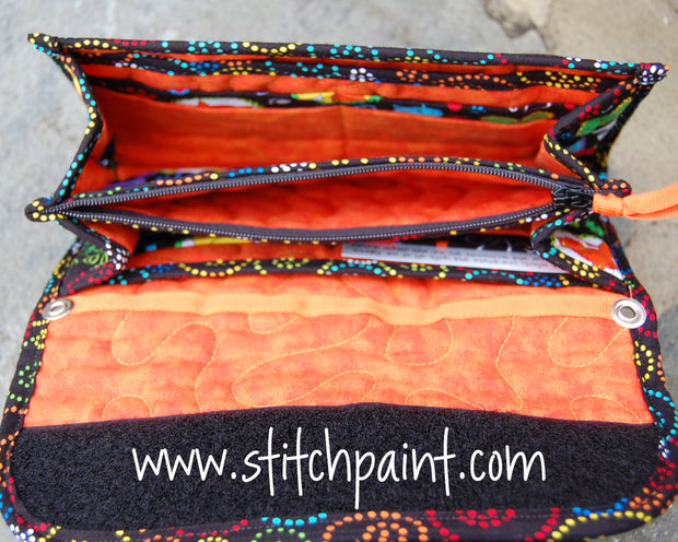 Clutch Wallet Inside | Cat Love Fabric | Stitchpaint