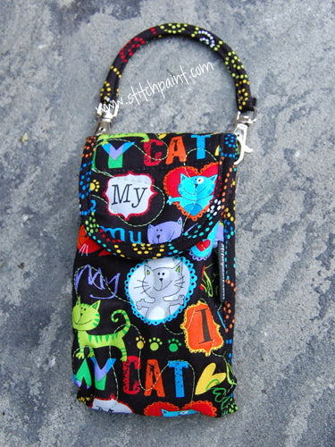 Phone Pouch | Cat Love Fabric | Stitchpaint