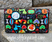 Clutch Wallet Back | Cat Love Fabric | Stitchpaint