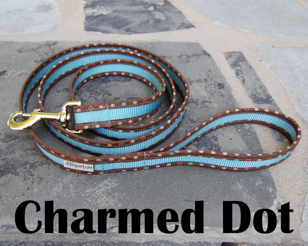 Charmed Dot Dog Leash 1"