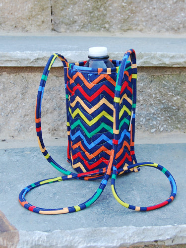 Bottle Pouch | Chic Chevy Fabric | Stitchpaint