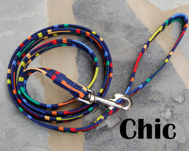 Chic Chevy Navy Dog Leash 5/8"