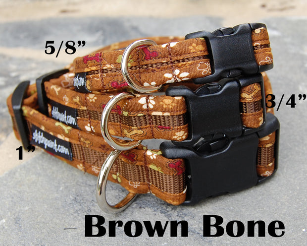 Brown Bone Dog Collar | Stitchpet