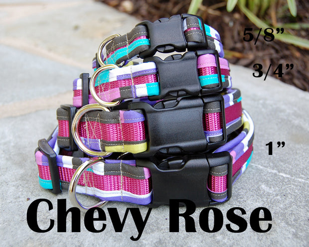 Chevy Rose Dog Collar | Stitchpet