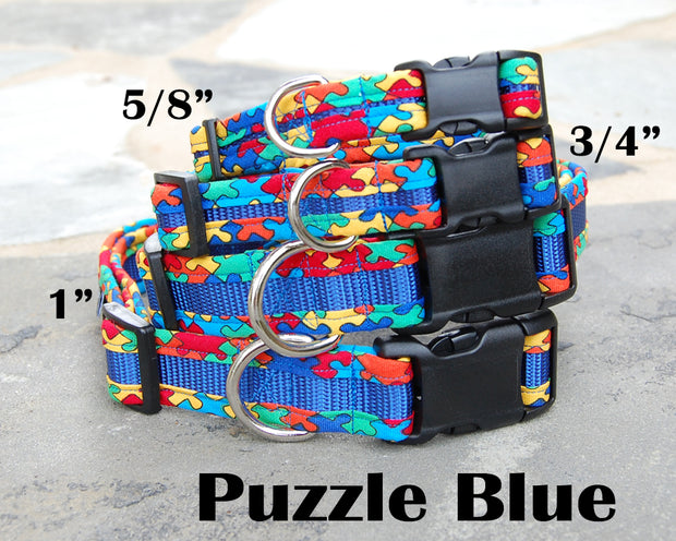 Boutique Dog Collar | Puzzle Fabric | Stitchpet