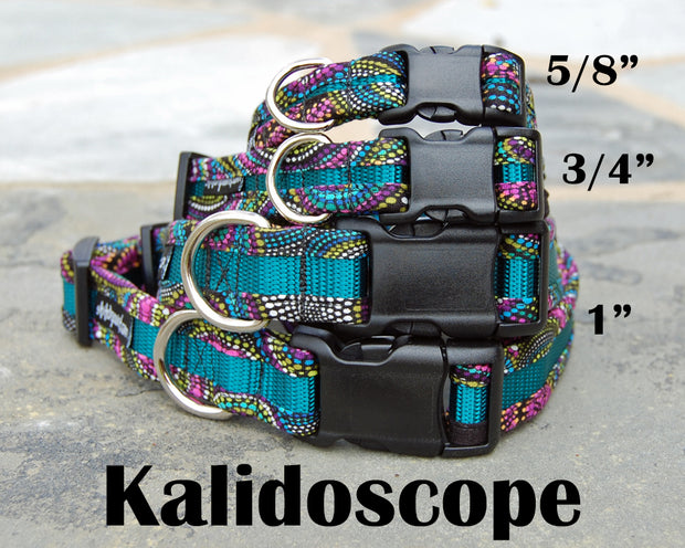 Kaleidoscope Dog Collar | Stitchpet