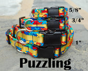 Puzzle Dog Collar | Autism Awareness | Stitchpet