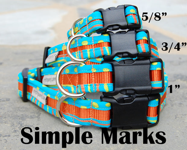 Simple Marks Dog Collar | Stitchpet