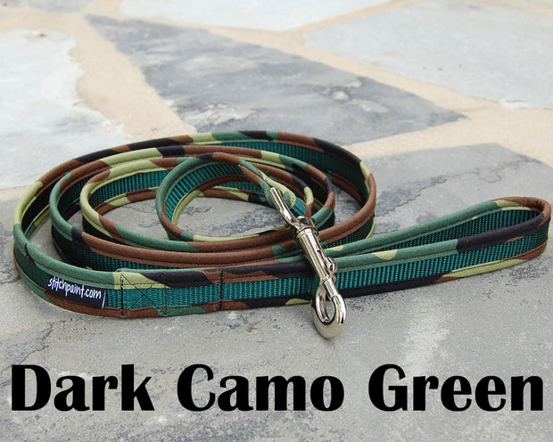 Dark Camo Dog Leash 1"