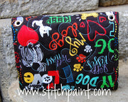 Mini Wallet Back | Dog Love Fabric | Stitchpaint