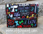 Mini Wallet | Dog Love Fabric | Stitchpaint