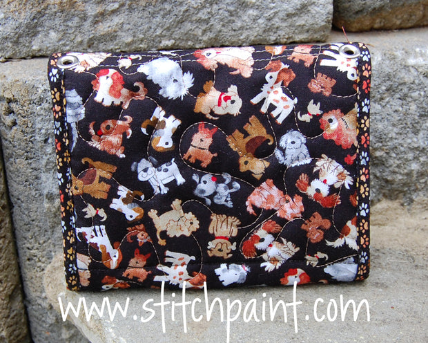 Mini Wallet Back | Dogs Fabric | Stitchpaint