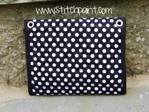 Mini Wallet Back | Dots Fabric | Stitchpaint