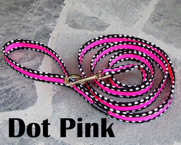 Dot Pink Dog Leash | Stitchpet