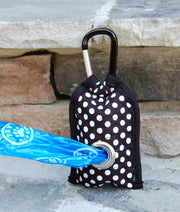 Poo Bag Pouch Back | Dog Poop Bag Holder | Dots