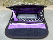 Mini Wallet Inside | Dot Purple Fabric | Stitchpaint