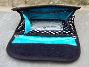 Mini Wallet Inside | Dot Turquoise Fabric | Stitchpaint