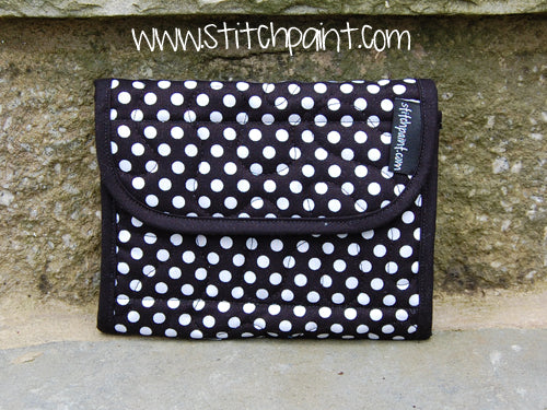 Mini Wallet | Dots Fabric | Stitchpaint