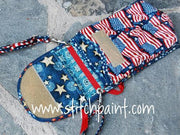 Mini Crossbody Phone Bag Inside | American Flag Fabric | Stitchpaint