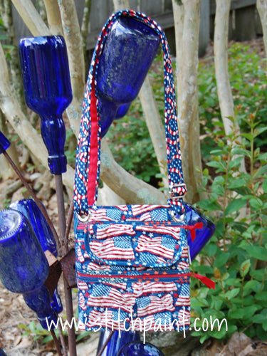 Crossbody Bag | American Flag Fabric | Stitchpaint