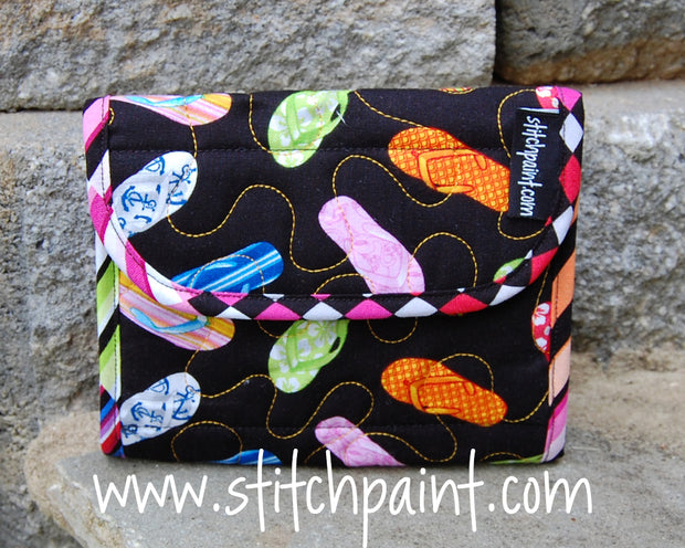 Mini Wallet | Flip Flop Fabric | Stitchpaint