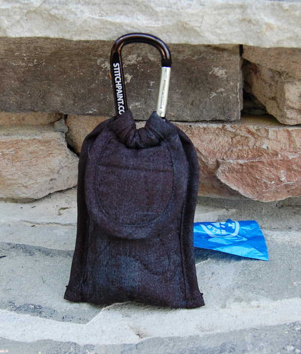 Poo Bag Pouch | Dog Poop Bag Holder | Black Grunge