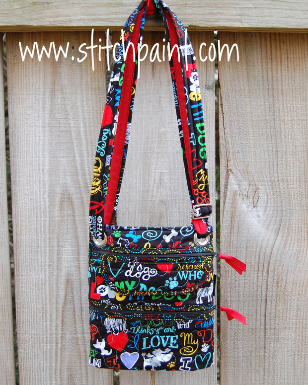 Crossbody Bag | Stitchpaint | Dog Love