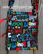 Crossbody Bag | Stitchpaint | Dog Love Back