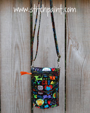 Mini Crossbody Phone Bag | Cat Love | Stitchpaint